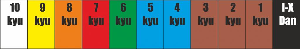 egzamin karate, kolory pasów karate Goju Ryu